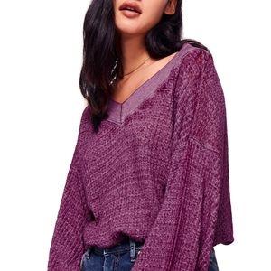 Free People  - Long Sleeve Top in Violet